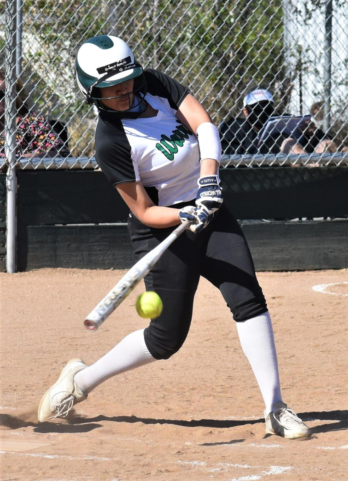 Megan Watt takes a swing.JPG