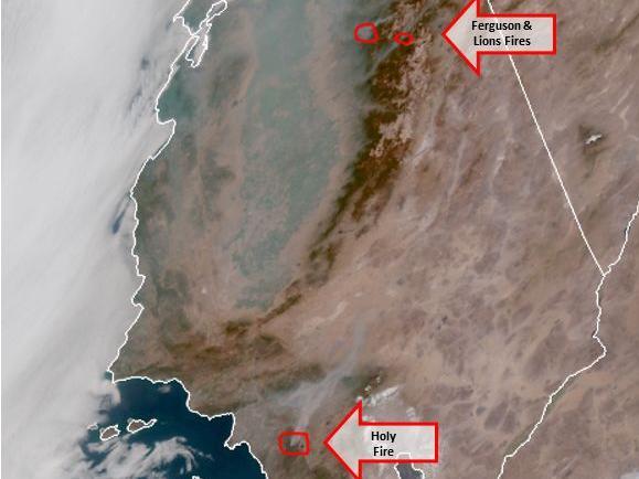 satellite smoke image