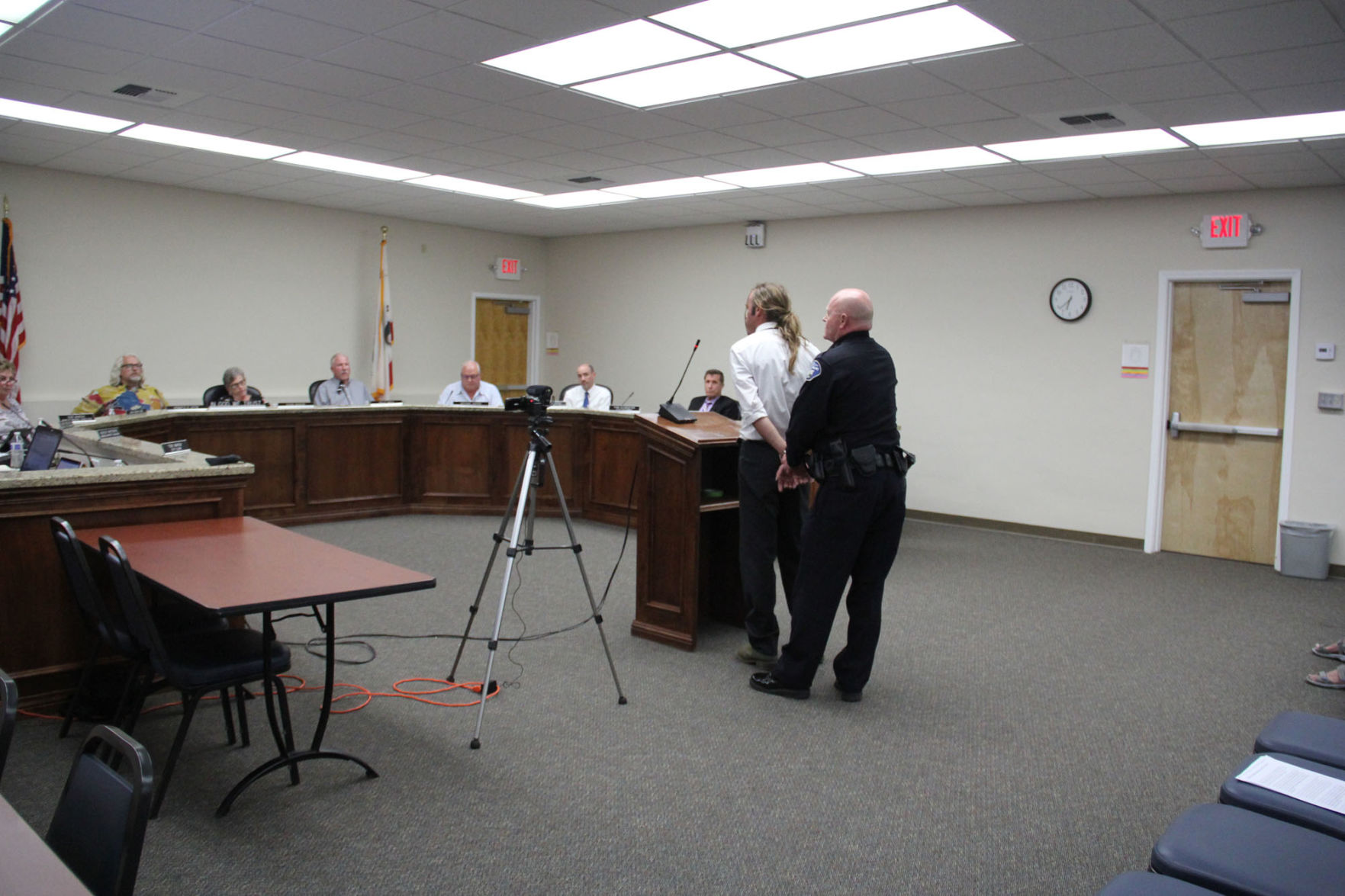 Sparks fly — and a former Tehachapi City Council candidate is arrested — during public comment