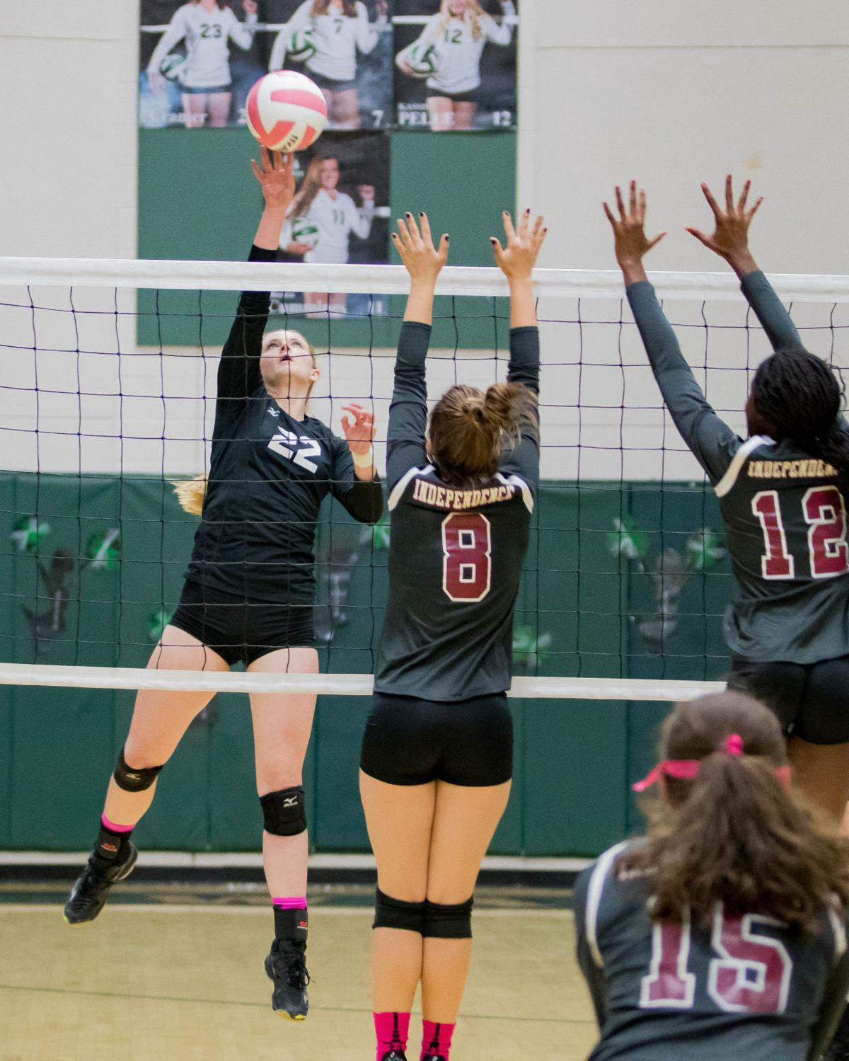 Lady Warriors volleyball takes on West, Independence