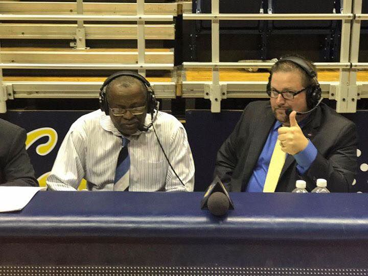 Postgame with Rod Barnes after defeating Cal in the first round of the NIT 2017..jpg