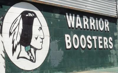 Warrior Boosters sign (copy)
