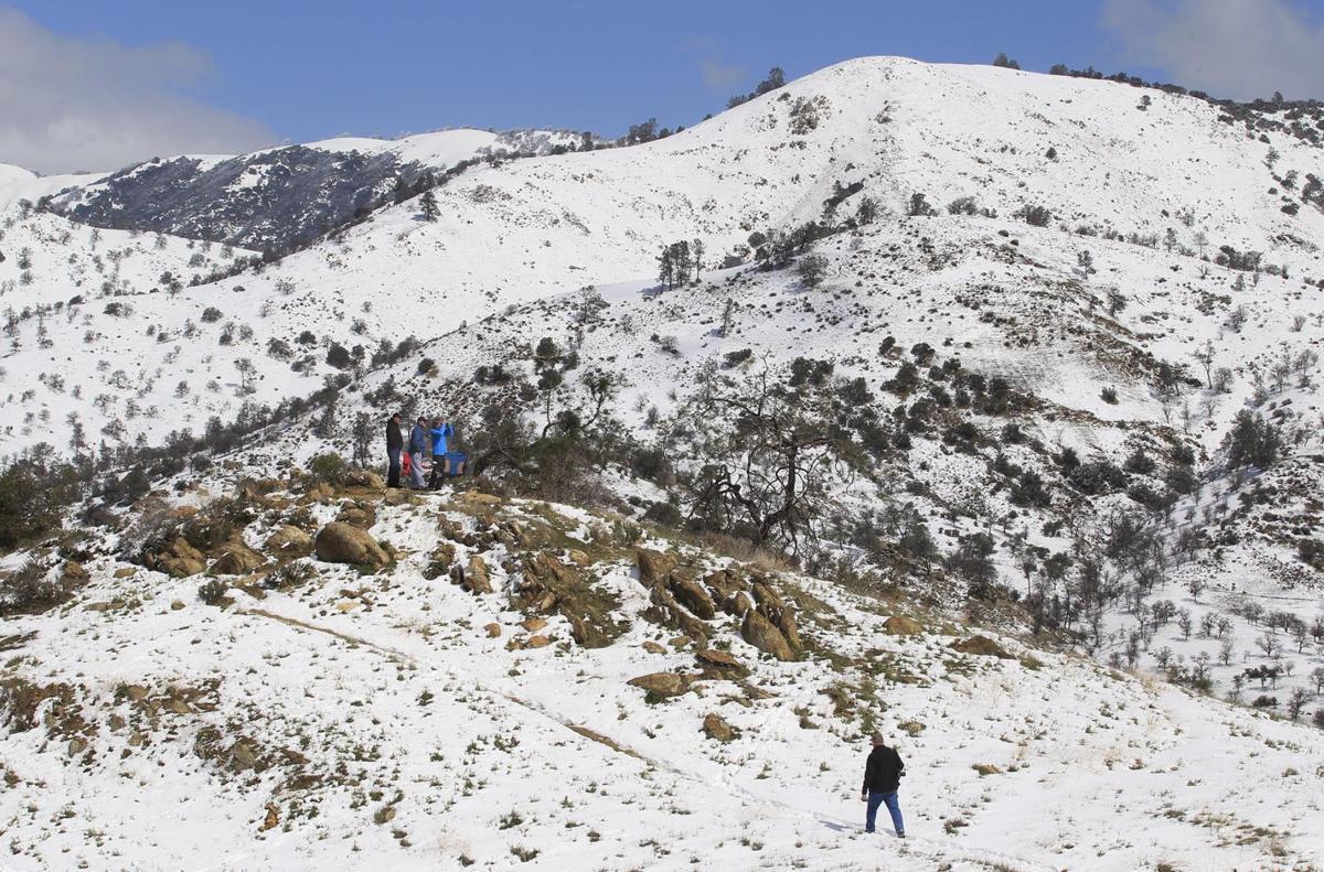 Snow at Tehachapi Loop