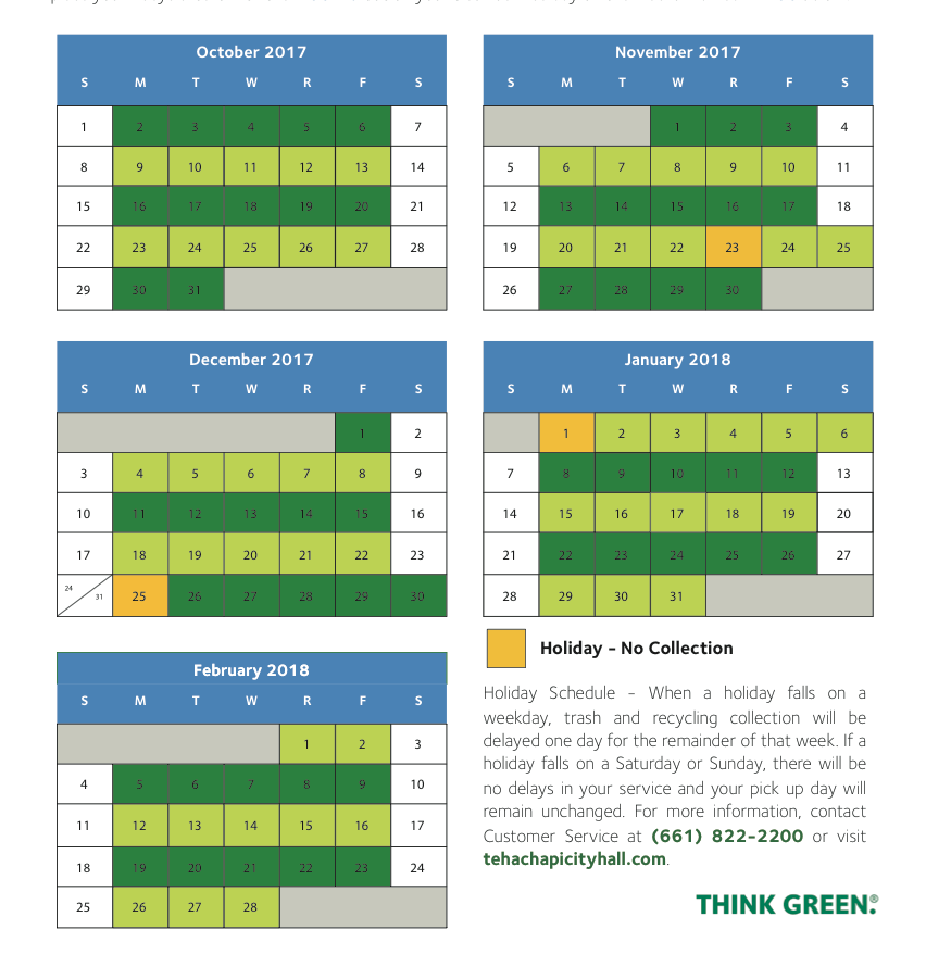 City Of Bakersfield Curbside Recycling Calendar 2021 Images
