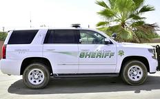 Shot sheriff vehicle