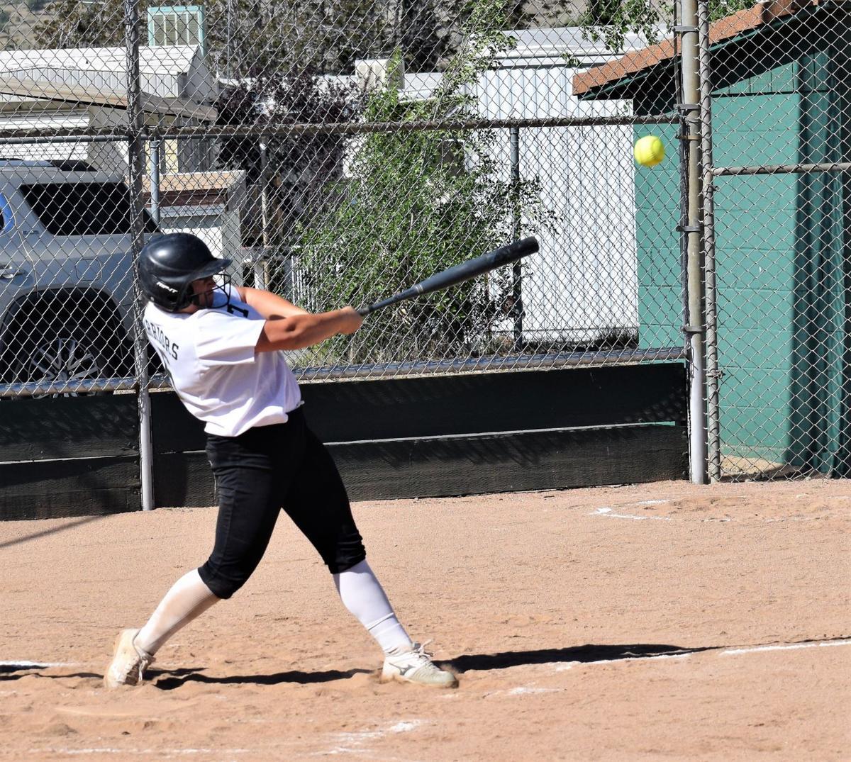 Sierra Brown hit into left field.JPG