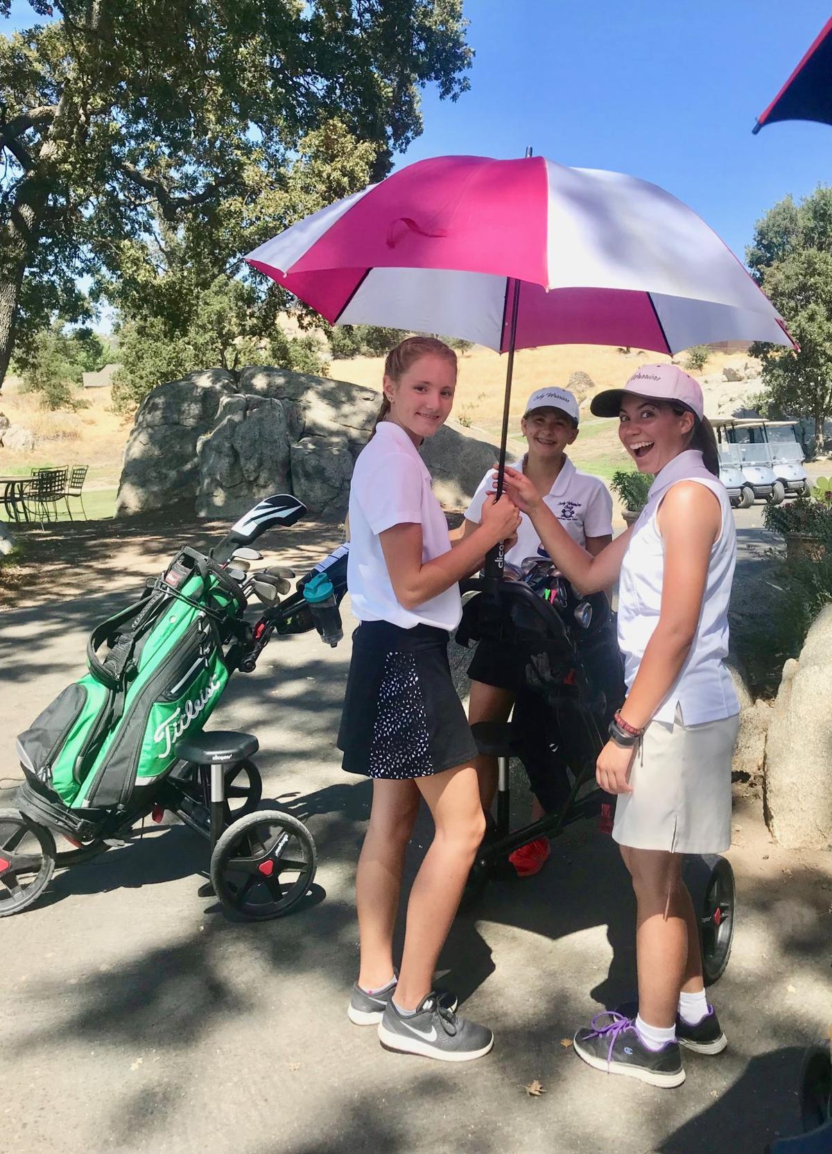 THS Girls Golf umbrella