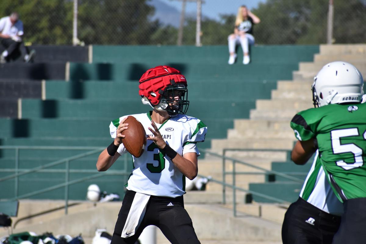 Junior Quarterback Jacob Tye in Scrimmage.JPG