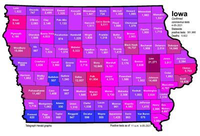 Where is COVID-19 in Iowa 04-05-2021