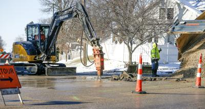Water main work