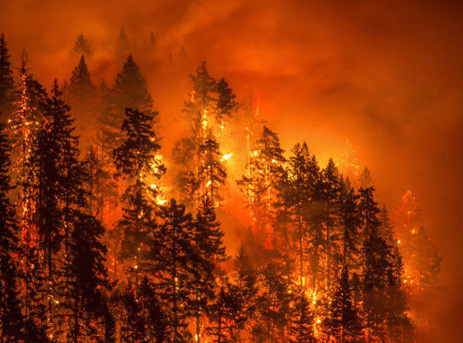 Картинки по запросу major wildfire in the scenic Columbia River Gorge in Oregon