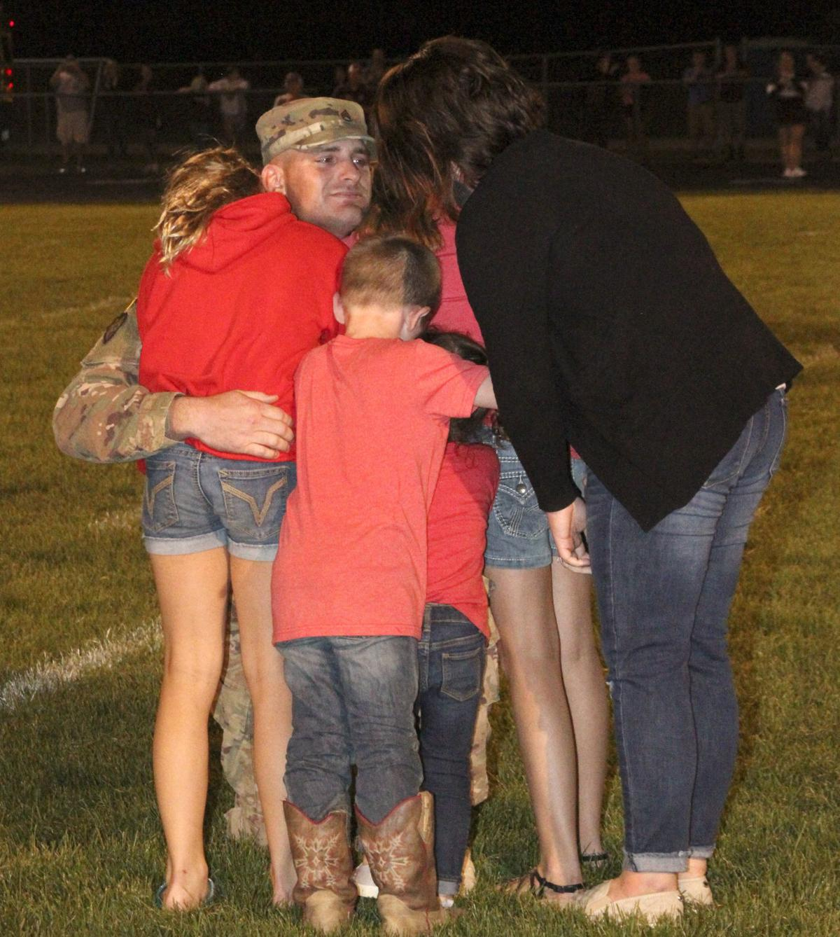 Soldiers Surprise Return Provides Touching Moment At Ed Co Game
