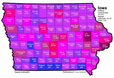 Where is COVID-19 in Iowa 06-02-2021