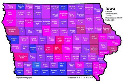 Where is COVID-19 in Iowa 01-12-2021