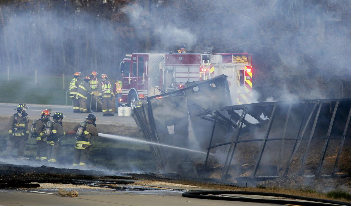 UPDATE: 1 injured in fiery crash north of Dickeyville