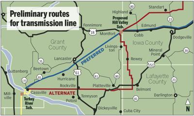 Preferred Wisconsin route selected for transmission line ... on wisconsin altitude map, wisconsin reservation map, wisconsin state highway map, wisconsin zone map, wisconsin detours map, wisconsin hwy map, wisconsin road map,