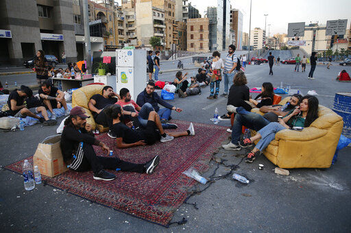 Lebanese protesters get creative as they block roads