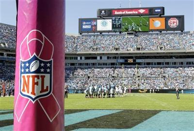 154e6f7daac NFL-Sponsorships Football. Procter   Gamble is canceling an on-field breast  cancer awareness promotion it ...