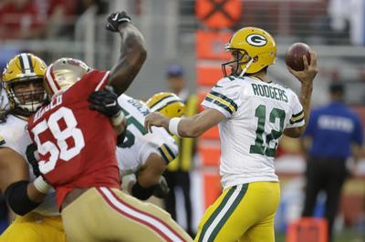 Rodgers throws TD pass to lead Packers past 49ers