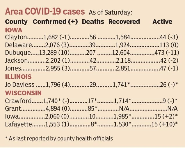 Area COVID-19 cases
