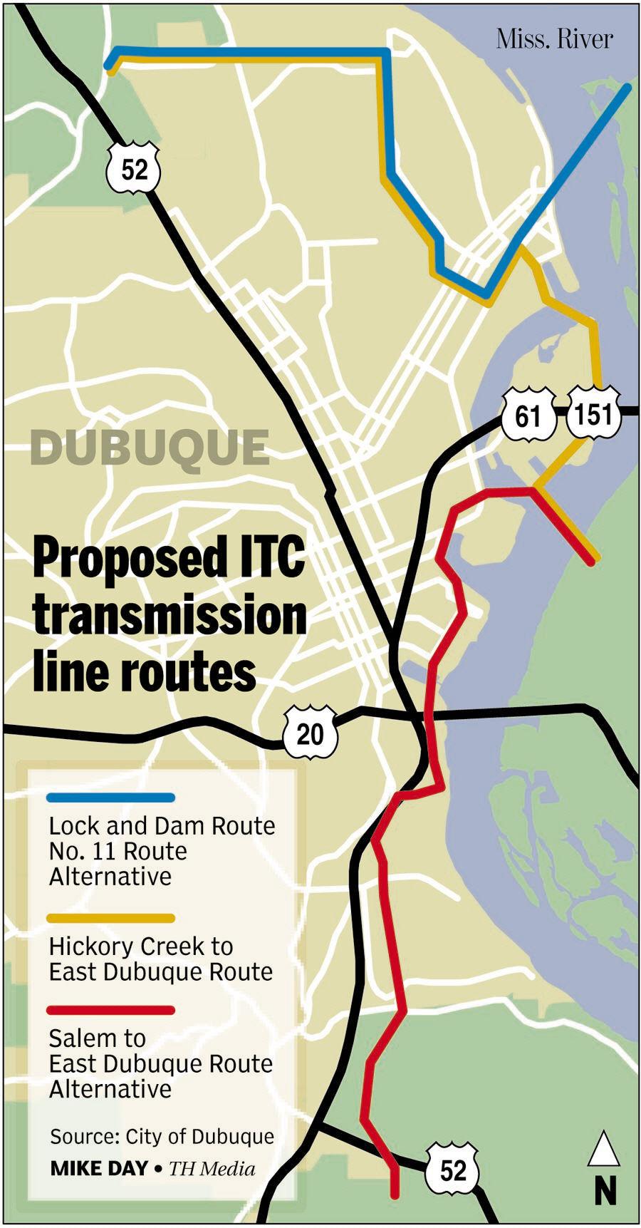 Dubuque: No to power line