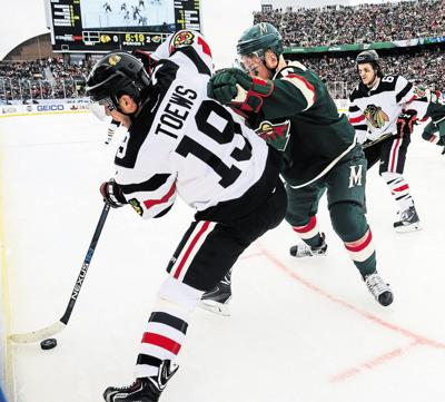 NHL  Wild rip Blackhawks in outdoor game  2c2ce1860