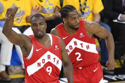 With Leonard leading way, Raptors on cusp of 1st NBA title