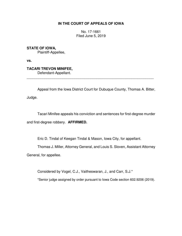Iowa Court of Appeals opinion | | telegraphherald com