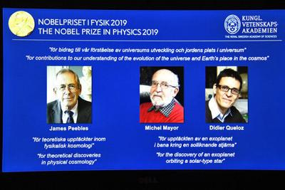 3 win Nobel Prize in Physics for work to understand cosmos