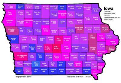 Where is COVID-19 in Iowa 01-07-2021