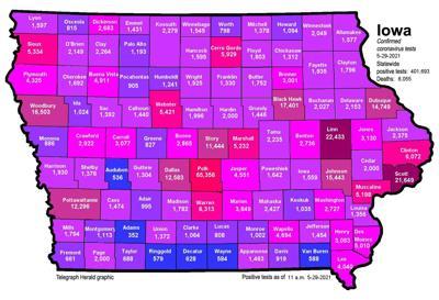 Where is COVID-19 in Iowa (05-29-2021)