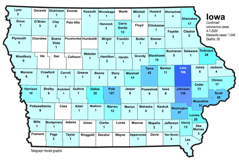 Where Is Covid 19 Maps Of Confirmed Cases In Illinois Iowa