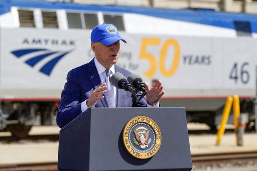 All aboard! Biden celebrates Amtrak's 50 years on the rails