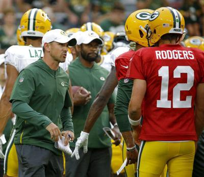 LaFleur: Rodgers to play 'a quarter or so' against Ravens