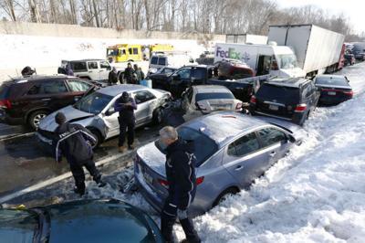 Trucks, dozens of cars crash on Pa  turnpike | National