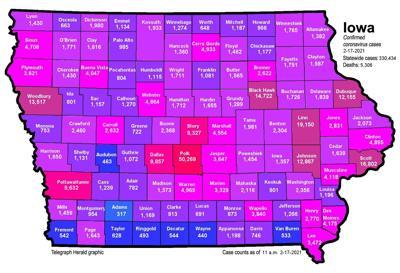 Where is COVID-19 in Iowa 02-17-2021