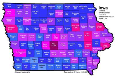 Where is COVID-19 in Iowa (11-07-2020)