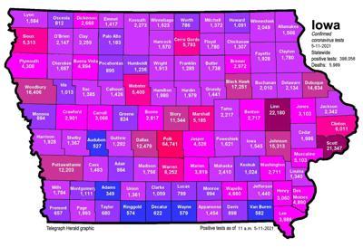 Where is COVID-19 in Iowa 05-11-2021
