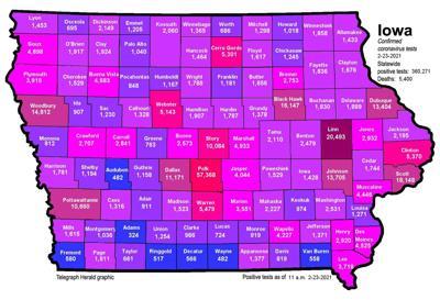 Where is COVID-19 in Iowa 02-23-2021