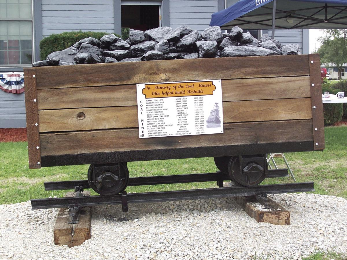 Coal Car at the Westville Historical Depot