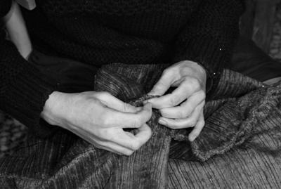 Black and white sewing