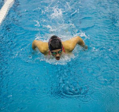 Female swimmer butterfly stroke