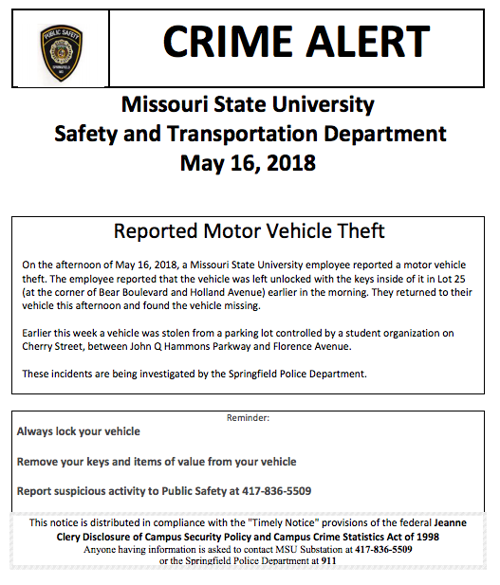 Crime Alert May 16 | News | the-standard org