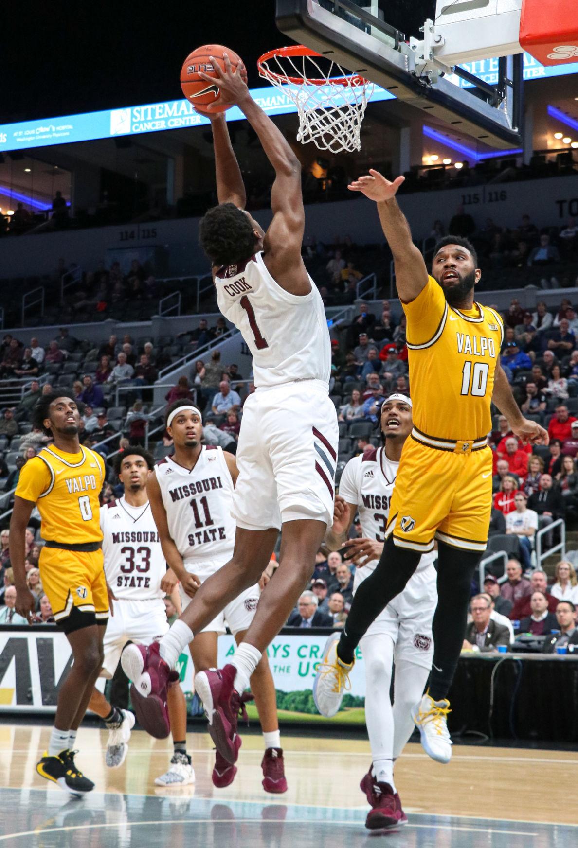 Keandre Cook dunks the ball
