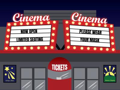 Theaters COVID illustration