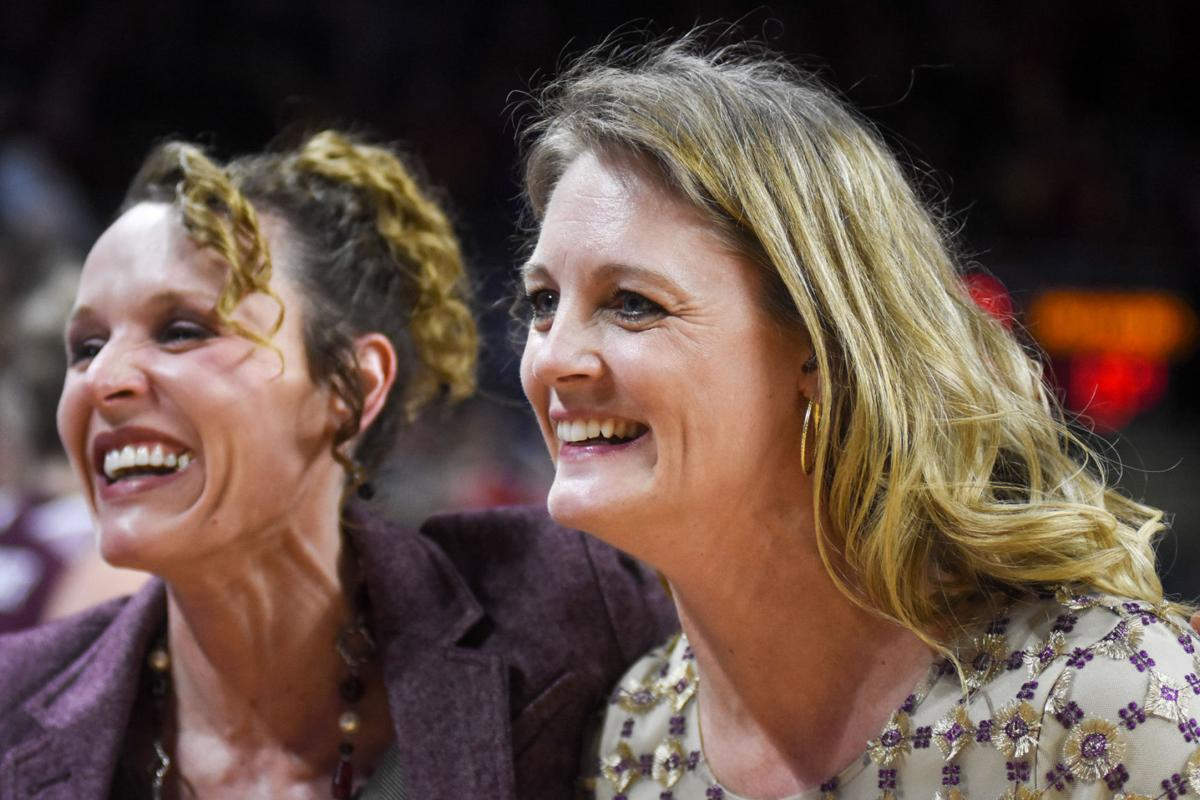 Kellie Harper, Jackie Stiles celebrate