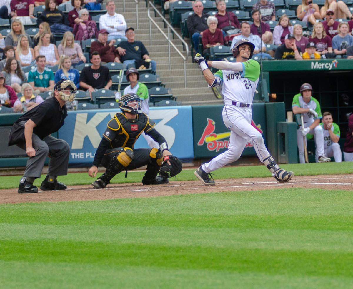 Drew Millas at bat