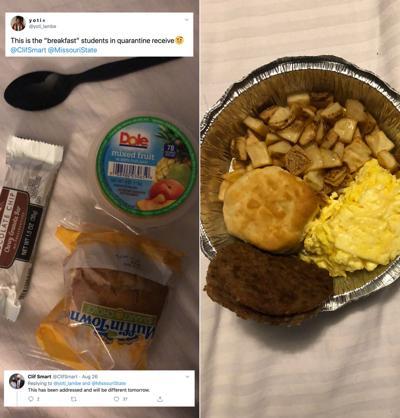 Off-Campus Quarantine Breakfast