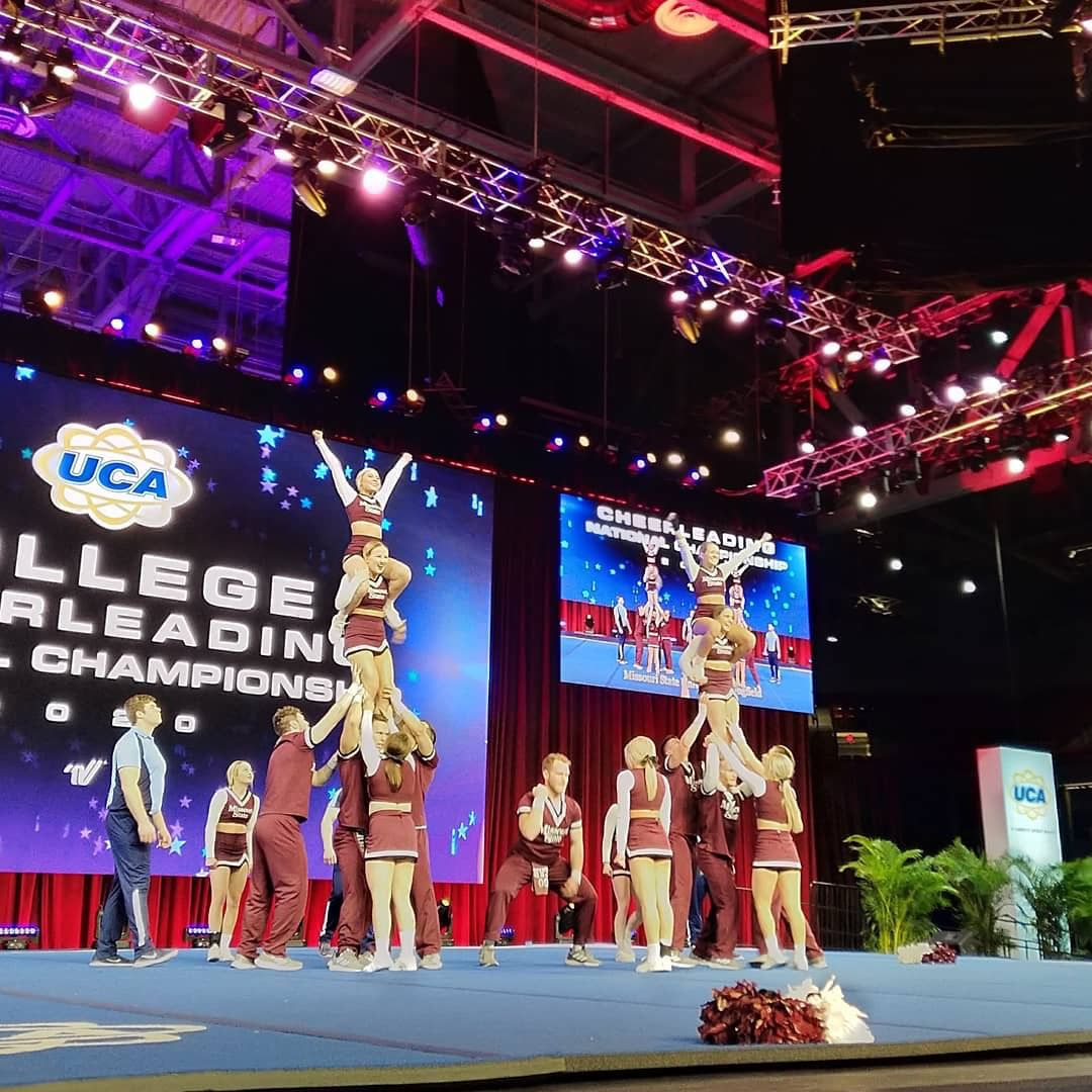 Cheer team performs
