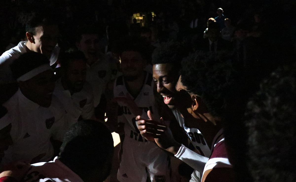 Keandre Cook hypes up his teammates